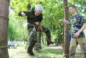 Скай парк (верёвочный) в детском лагере