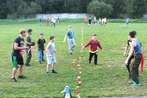 Зарница граница стратегия знамя в детском военно-спортивном лагере