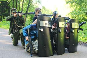 Тактика обороны в военно-спортиыном детском лагере