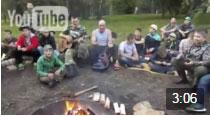 Видео - вечер у костра в лагере ФОРПОСТ