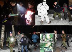 Ночные игры в детском лагере